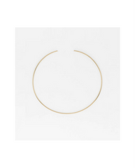 Riviera Thin Gold Brass Choker Necklace