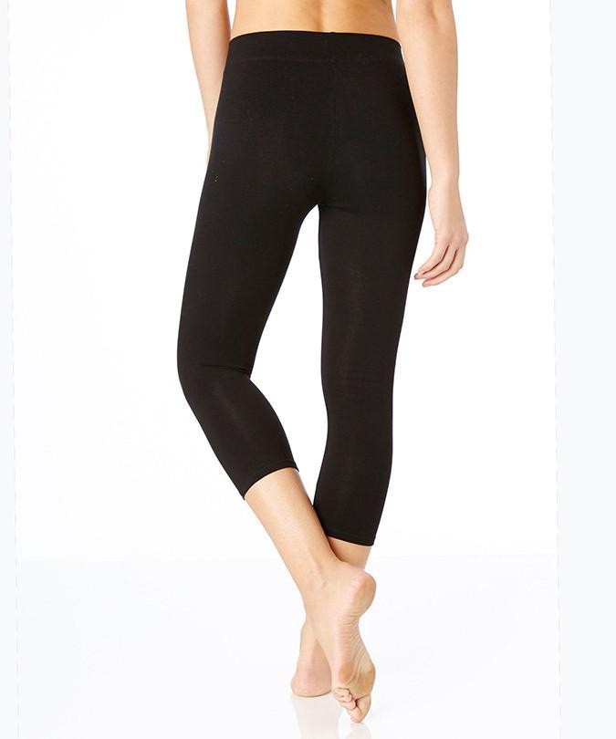 Organic Cotton Everyday Cropped Leggings - Black *Only XS left!*