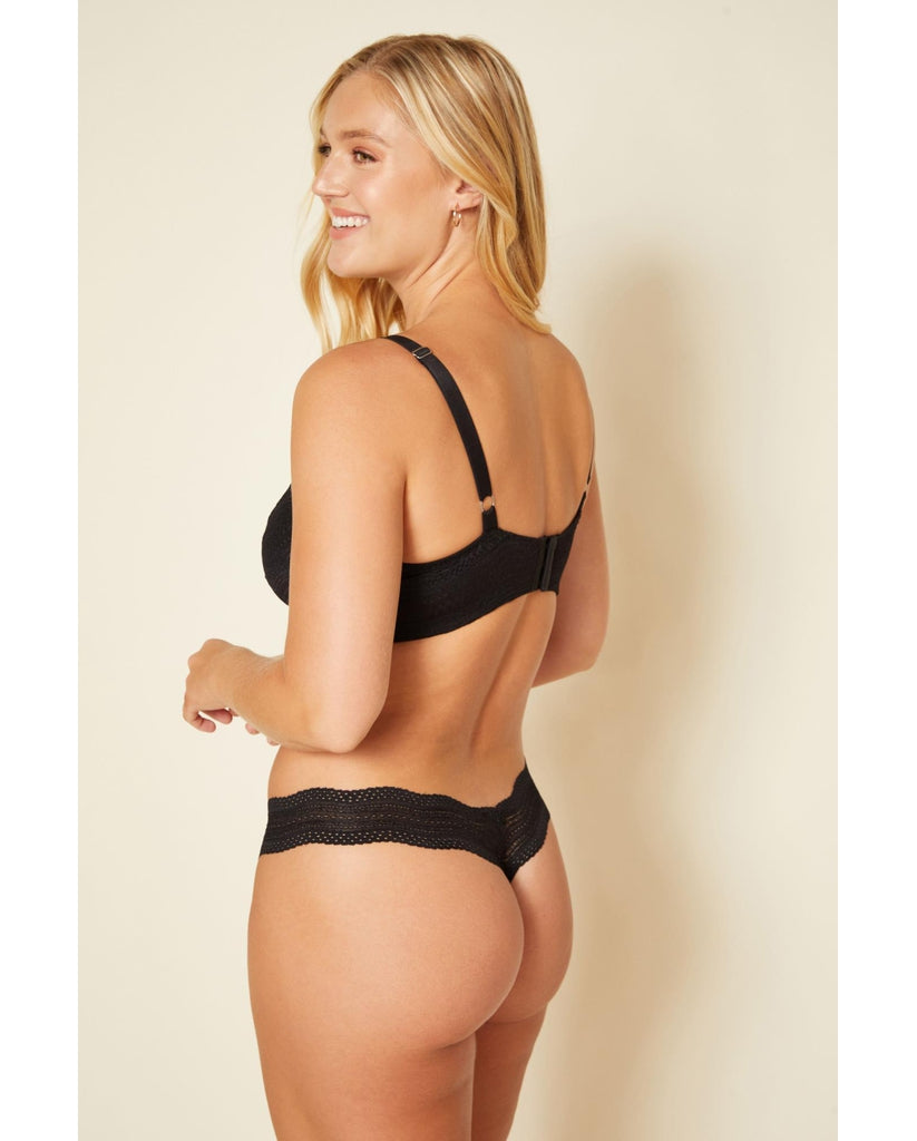 Dolce Thong - Black /  Blush