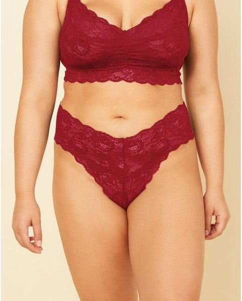 Curvy Cutie Thong - Ruby Red