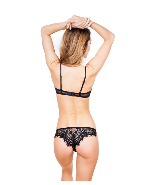 Eden Black Eyelash Lace Undies *Only 3 Left!*