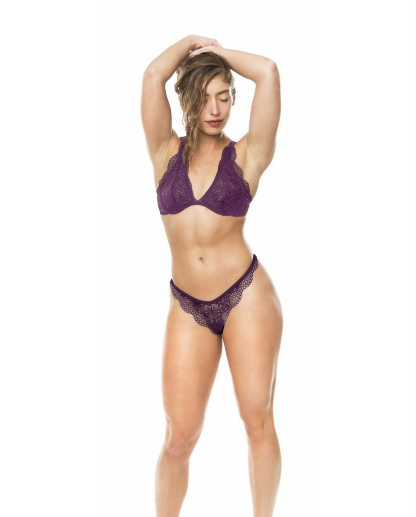 Plum Purple Gisele Bralette *Only 32A, 36A + 32B left!*