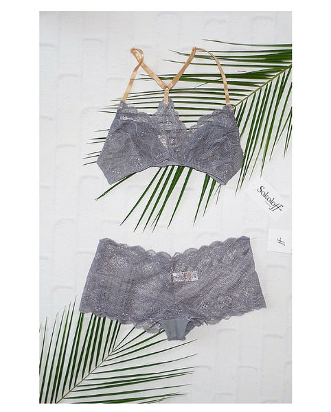 Grey Brazilian Boyshort - Only 1 L left!
