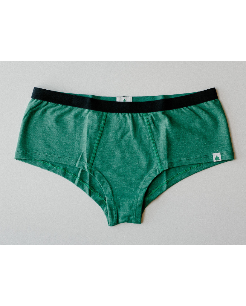 Hemp Hipster Boyshort Undies - Green *Only 2XL left! FINAL SALE*