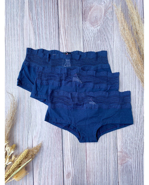 3-Pack Dolce Boyshort - Navy Blue