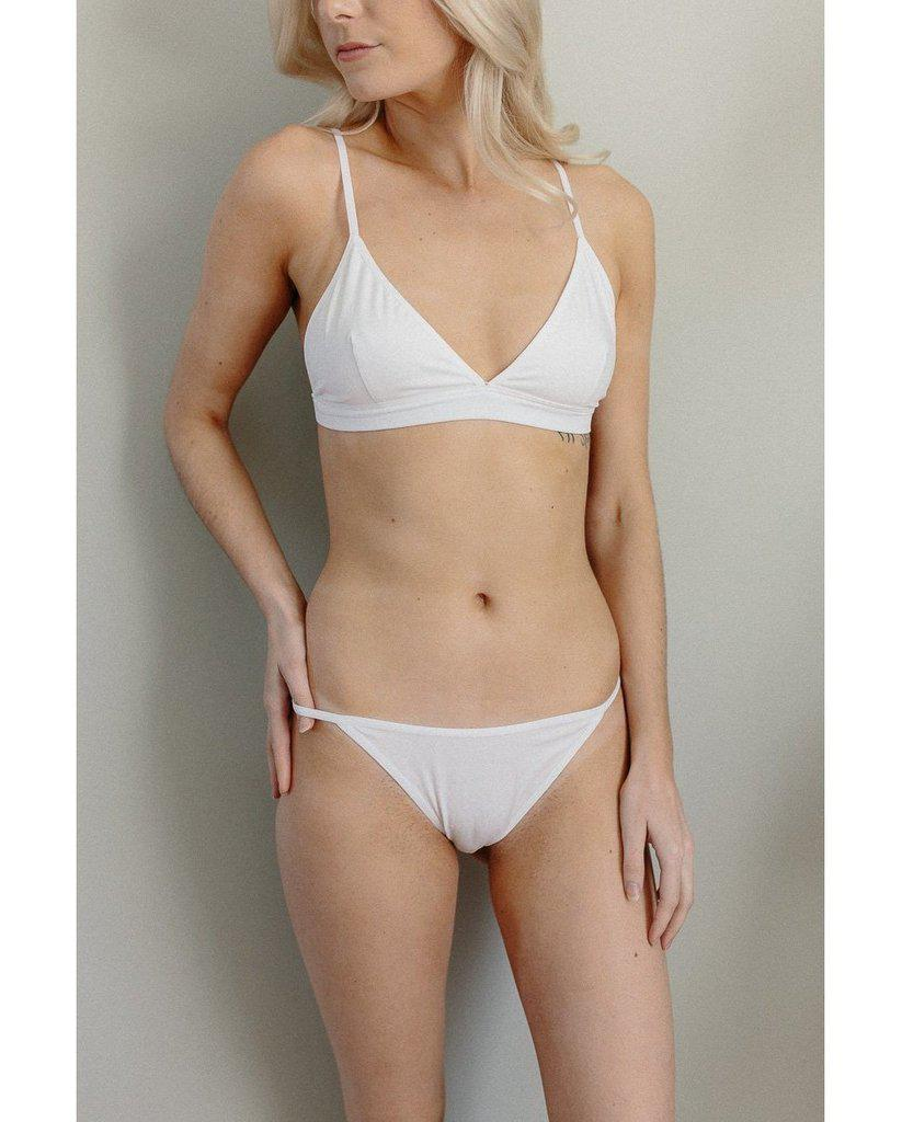 Organic Cotton Janet Bralette - White *Only L left!*