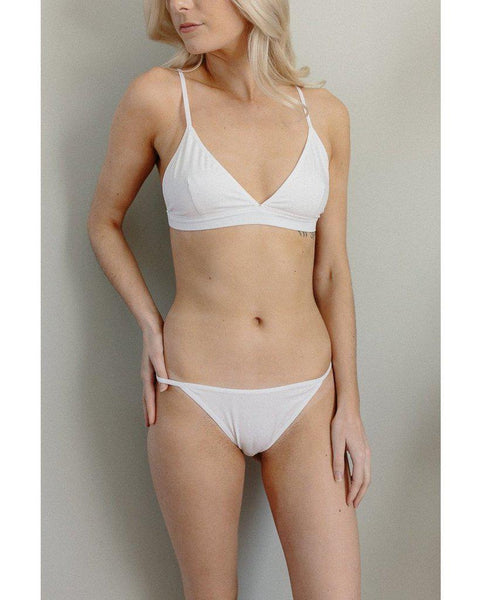 Organic Cotton Janet Bralette - White