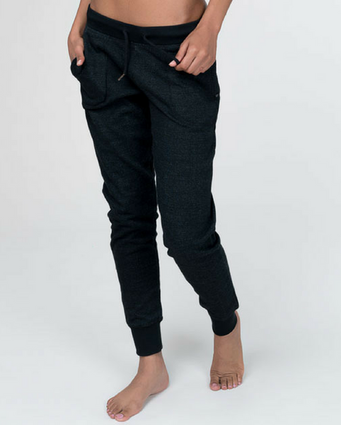 Organic Cotton Jogger Sweatpants - Black