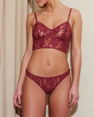 Red Lace Kira Recycled Polyester Bralette