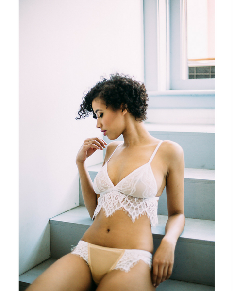 White Skivvy Bralette - *Only 1M Left!*