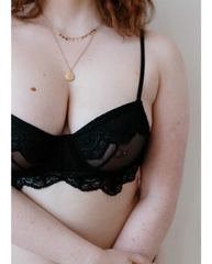 Amely Black Lace Underwire Bra