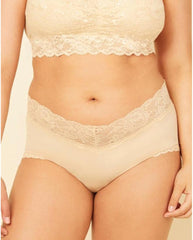 Curvy Boyshorts with Lace - Blush