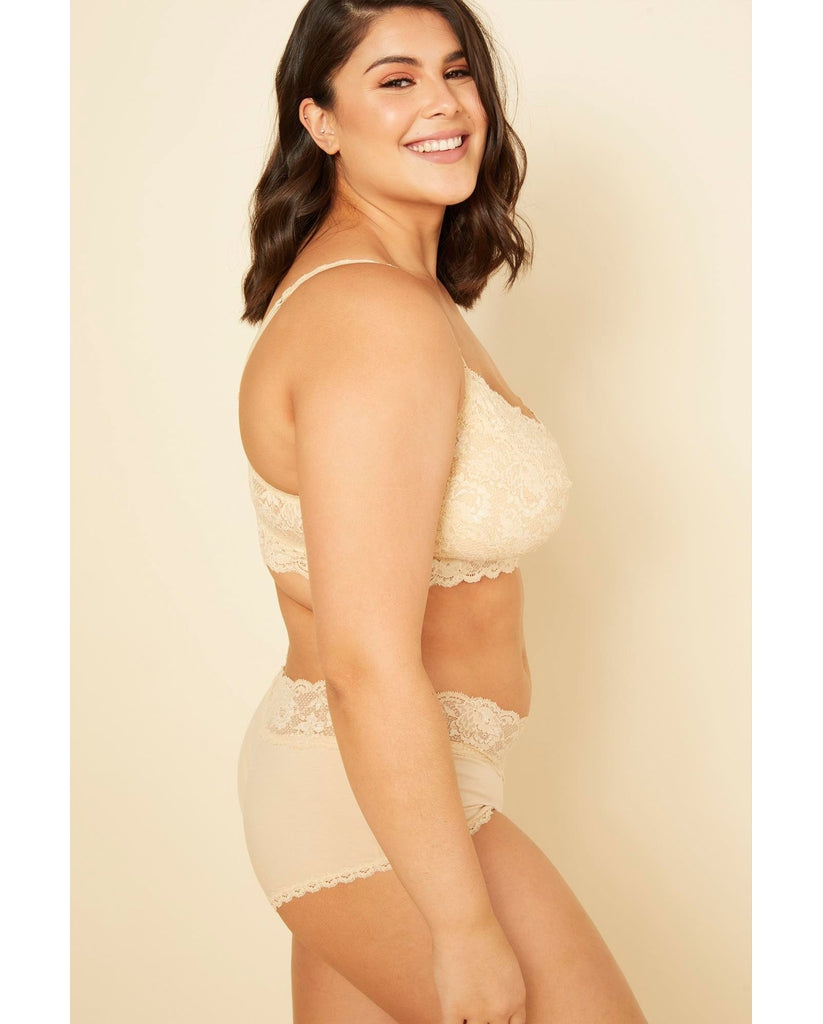 Curvy Boyshorts with Lace - Beige