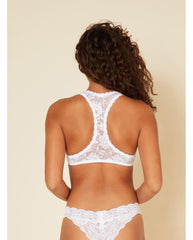 Racie Racerback Bralette - White *Only M & L left FINAL SALE*
