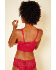 Curvy Plungie Bralette - Ruby Red *FINAL SALE*
