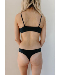 Organic Cotton Basic Rosy Thong - Navy Blue