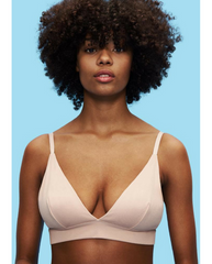 Organic Cotton Triangle Bra - Beige