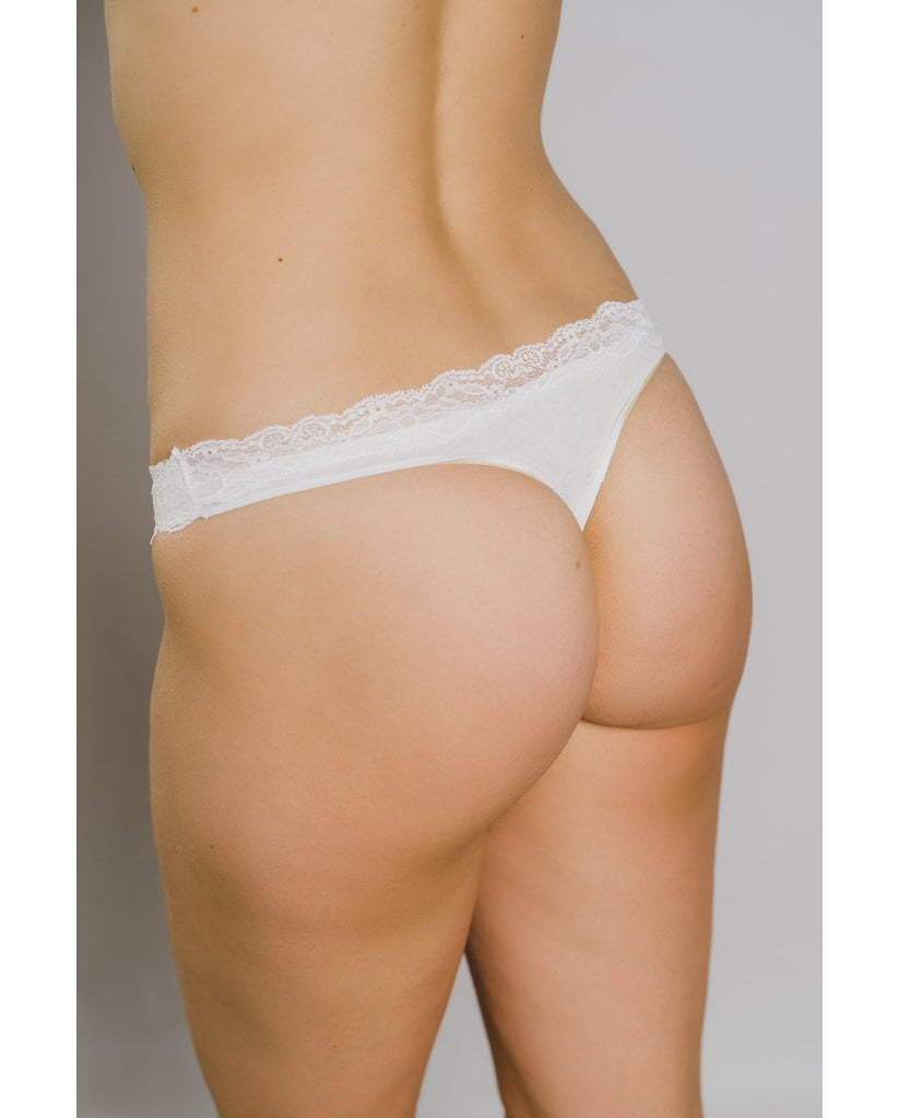 Organic Cotton Not So Basic Thong - Olive Green