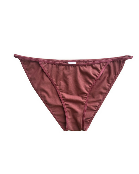 Organic Cotton Audrey String Bikini - Red *Only S + L left!*