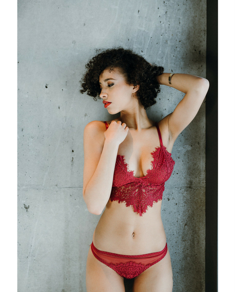 Red Eden Eyelash Lace Bralette *Only L left!*