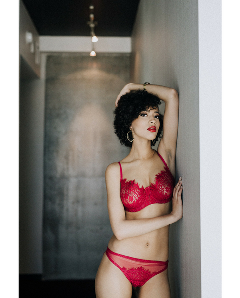 Red Lace Eden Balconette Underwire Bra