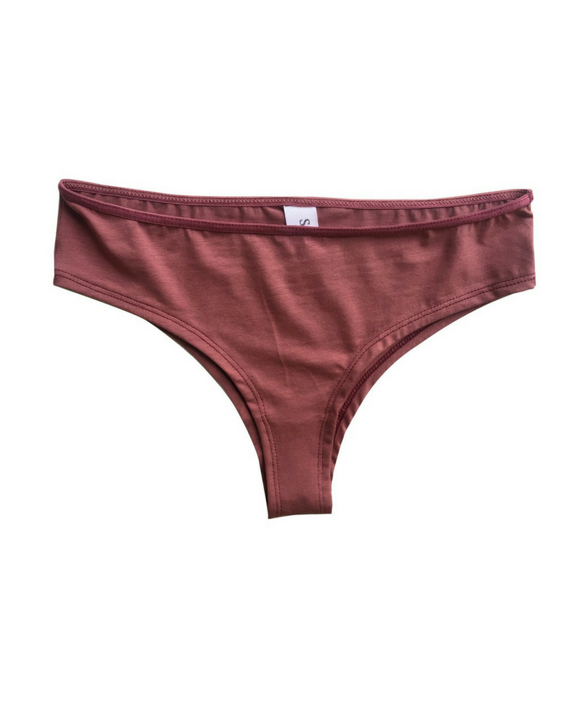 Organic Cotton Jessica Boyshort Undies - Red
