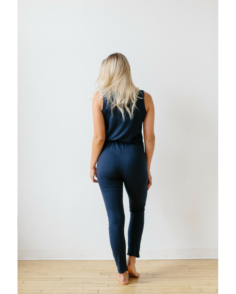 Organic Cotton + Eucalyptus Women's Romper / Jumpsuit - Ink Blue