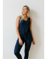 Organic Cotton + Eucalyptus Women's Romper / Jumpsuit - Ink Blue *Only XS Navy + S Black Left!*