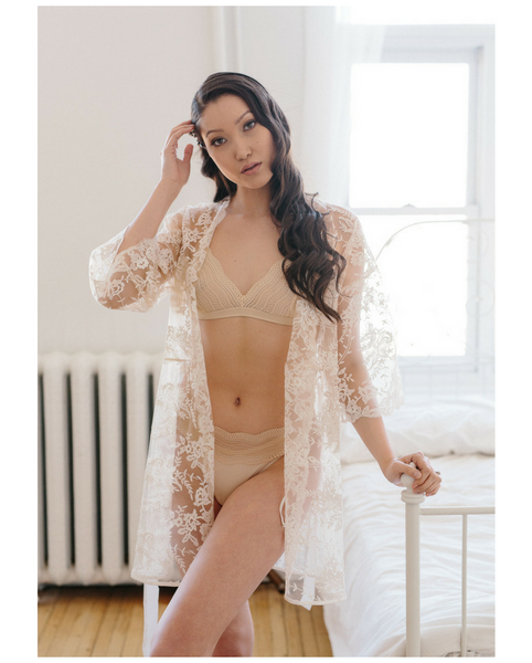 Rosie Lace Robe *Only 1 L Left!*