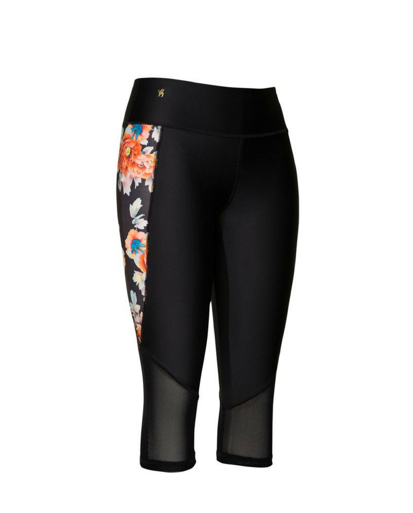 Serena Floral Yoga/Workout Capris *Only S, L + XL  left!*