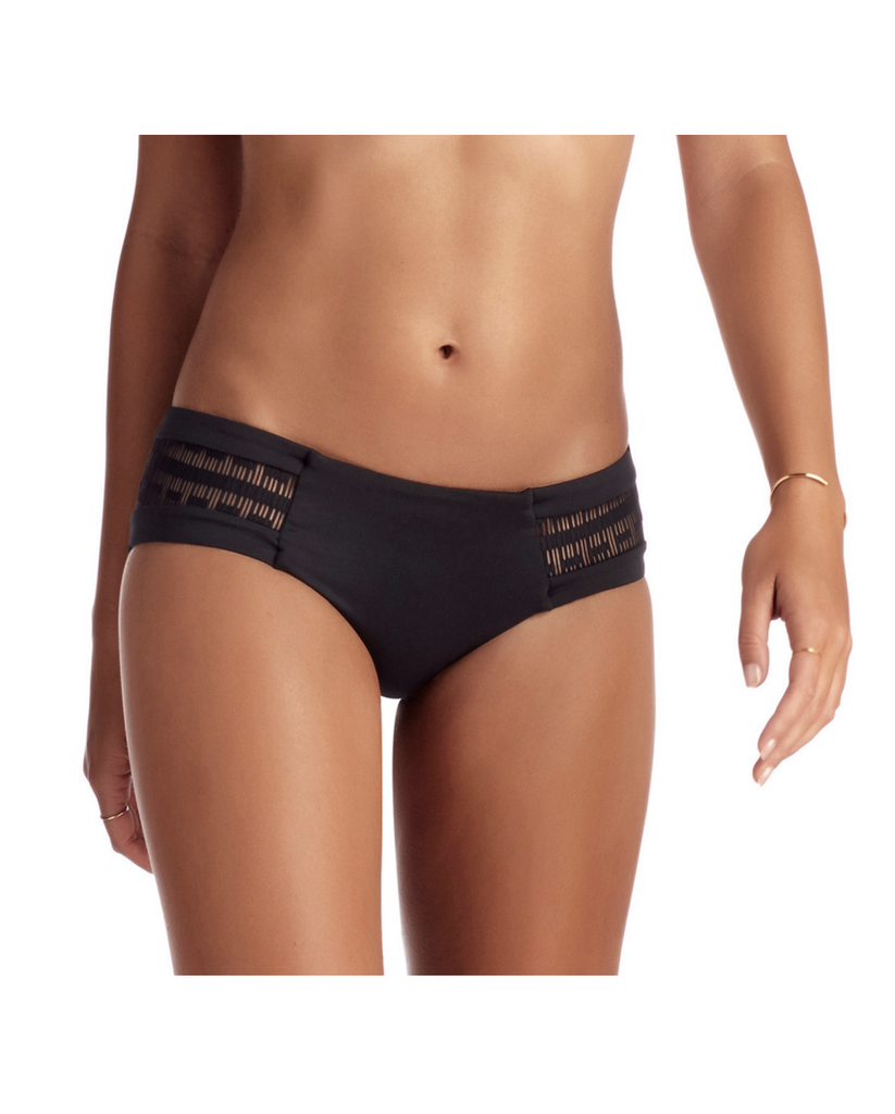 Symmetry Black Mesh Boyshort Bikini Bottoms *Only S left!*