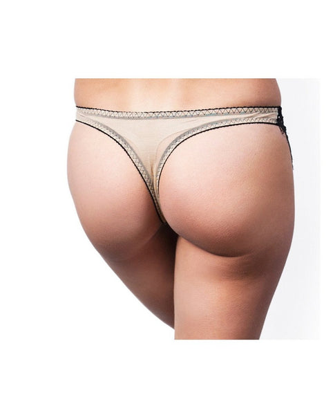 Black Skivvy Thong - Almost gone! *Only 1 L left!*