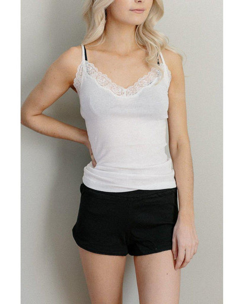 Organic Cotton Not So Basic Tank Top - White