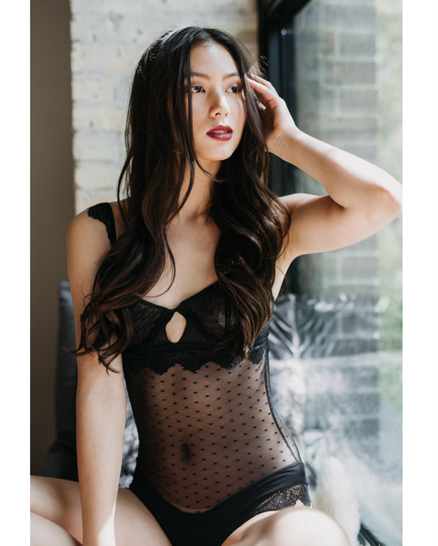 Black Lace Juliette Bodysuit -*Only 2Ls left!*
