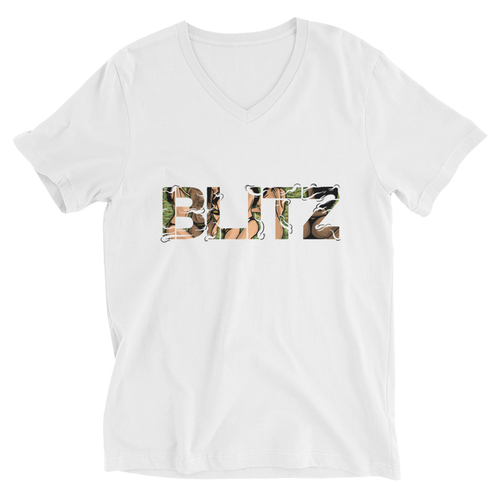 BLITZ Cotton V-Neck T-Shirt