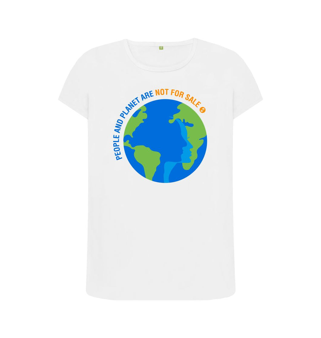 White People And Planet - Ladies' Tee