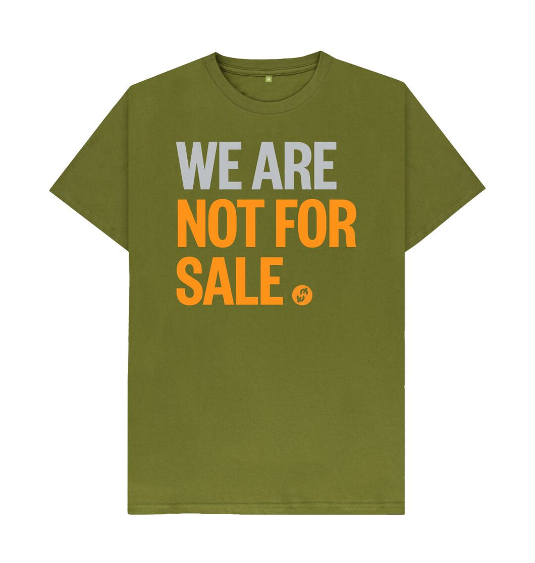 Moss Green We Are Not For Sale - Men's Tee