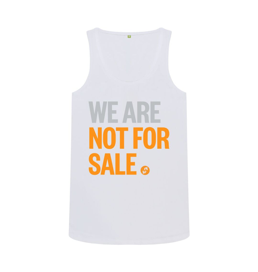 White We Are Not For Sale - Ladies' Tank