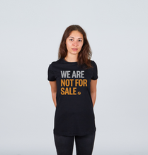 Load image into Gallery viewer, We Are Not For Sale - Ladies' Crew Neck Tee