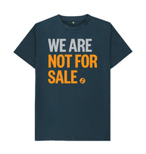 Load image into Gallery viewer, Denim Blue We Are Not For Sale - Men's Tee