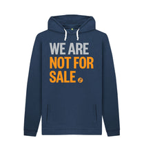 Load image into Gallery viewer, Navy We Are Not For Sale - Men's Hoodie