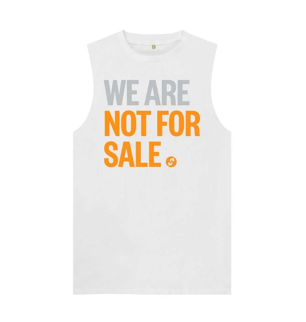 White We Are Not For Sale - Men's Tank