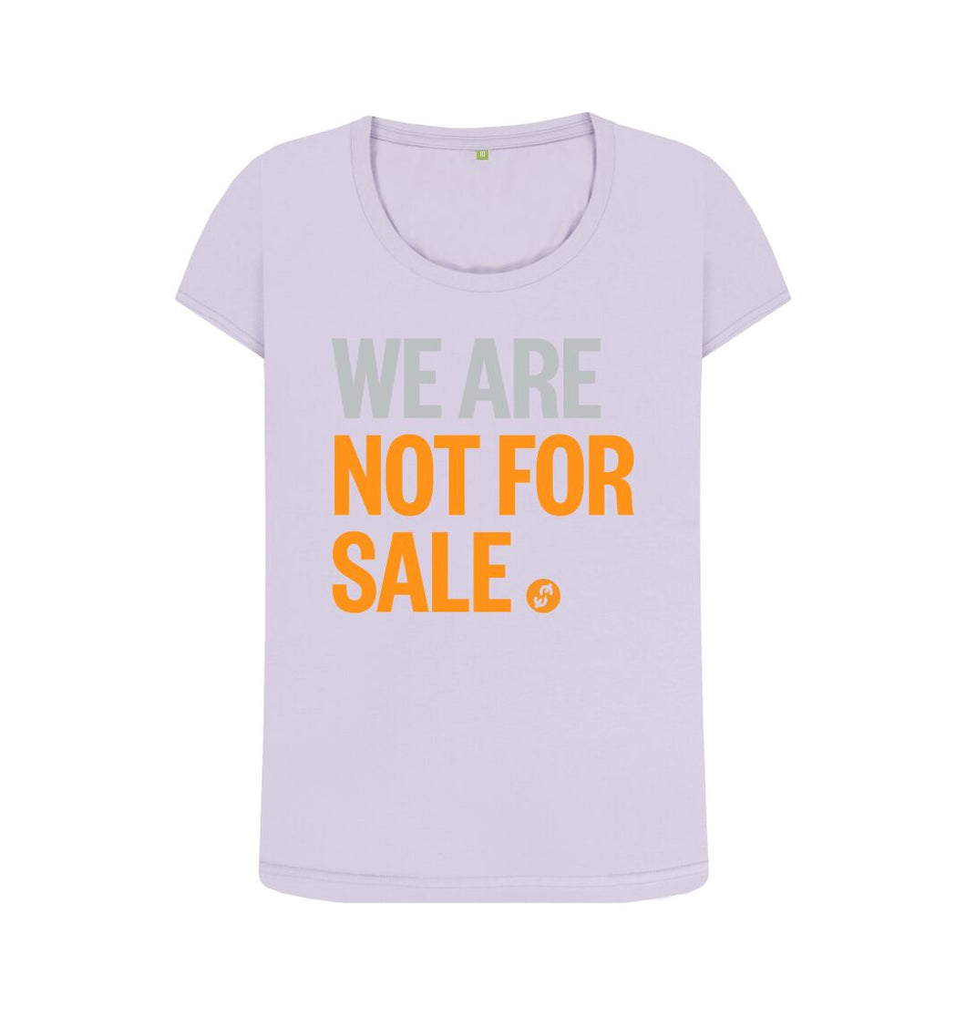 Violet We Are Not For Sale - Ladies' Tee