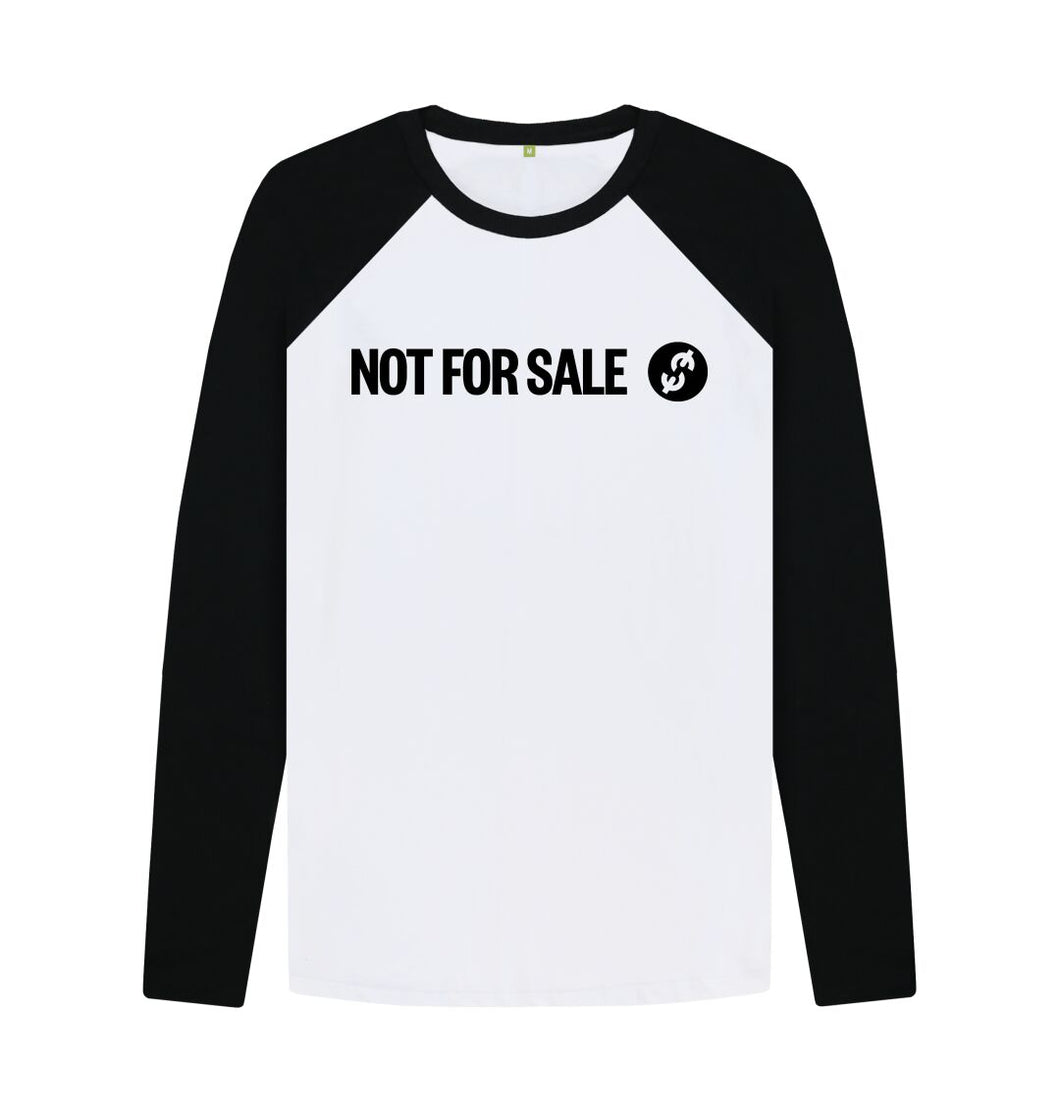 Black-White Official Not For Sale - Men's Baseball Shirt