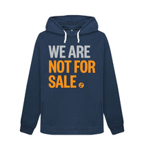 Load image into Gallery viewer, Navy Blue We Are Not For Sale - Ladies' Hoodie