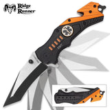 Ridge Runner RR686 EMT Everyday Carry Assisted Opening Tanto Pocket Knife