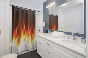 "MV Collection ""Hot Flames"" Shower Curtains"