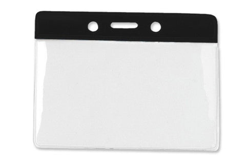 Brady People ID 1820-1001 Horizontal Vinyl Color-Bar Badge Holder - Data/Credit Card Size,
