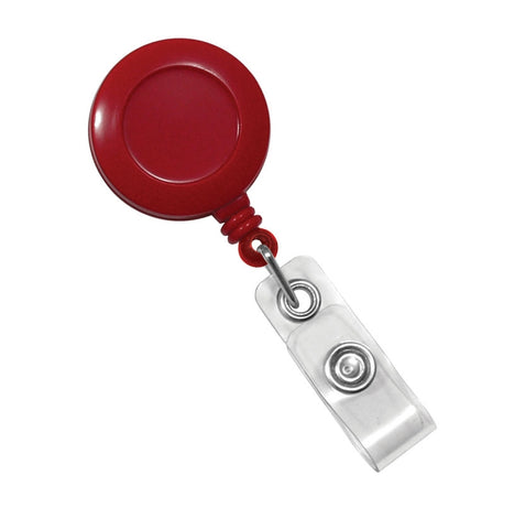 BPID 2120-3036 Red Badge Reel with Clear Vinyl Strap & Belt Clip