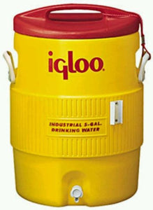 IGLOO 451 5-Gallon Water Cooler Yellow and Red